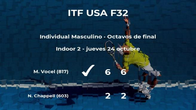 El tenista Matej Vocel pasa a los cuartos de final del torneo de Fayetteville