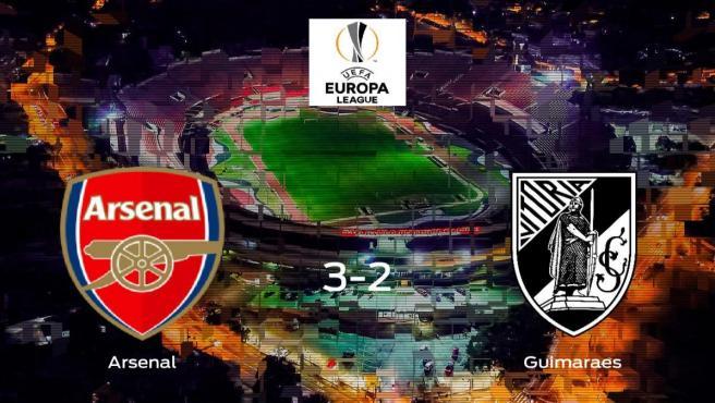 El Arsenal suma tres puntos a su casillero tras ganar al Vitoria Guimaraes (3-2)