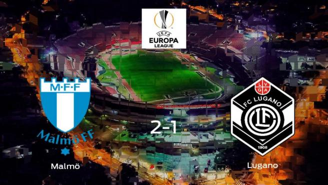 Los tres puntos se quedan en casa tras la victoria del Malmö frente al FC Lugano (2-1)