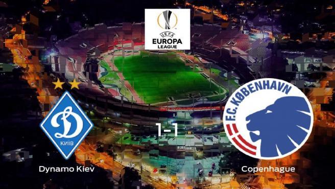 El Dynamo Kiev y el Copenhague solo suman un punto (1-1)