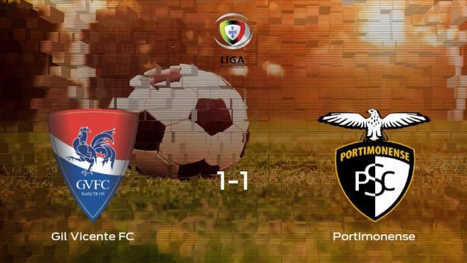El Portimonense saca un punto al Gil Vicente FC a domicilio (1-1)