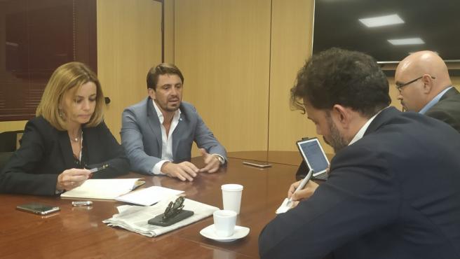 Ana Zurita y Guillermo Mariscal, en la reunión con Ashotel