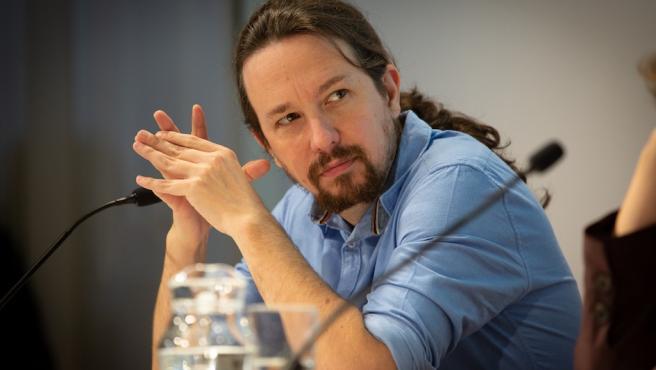 El líder de Podemos, Pablo Iglesias, en Barcelona