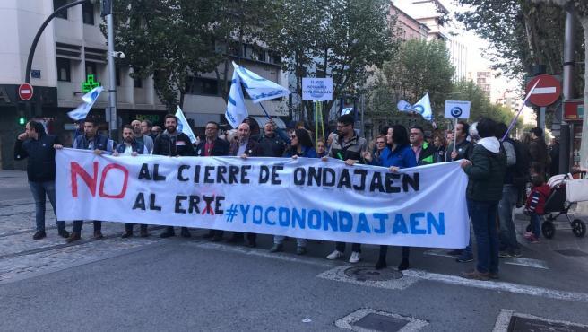 Manifestación por el restablecimiento de Onda Jaén.