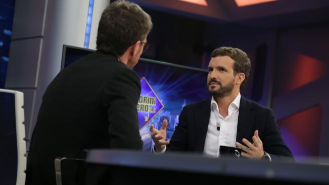 Pablo Casado, durante su entrevista en 'El hormiguero'.