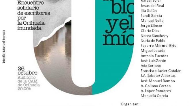 Cartel del encuentro poético solidario