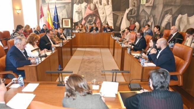 Celebración del pleno de la Diputación de Ciudad Real