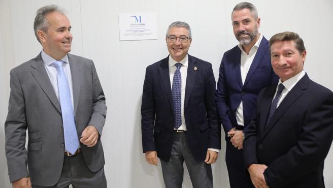 El presidente de la Diputación, Francisco Salado, en la visita a las nuevas instalaciones de Agamma que cuenta con el sello Sabor a Málaga