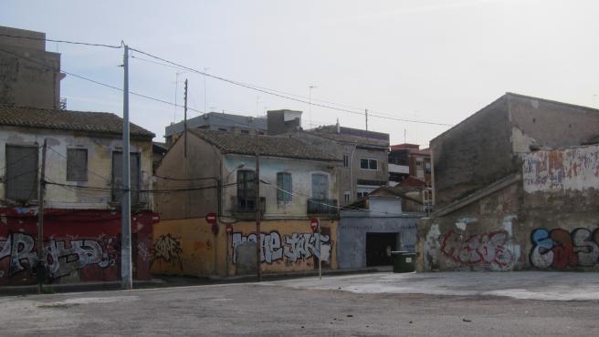 Imatge del barri del Cabanyal, ajuste carrer Lluís Despuig