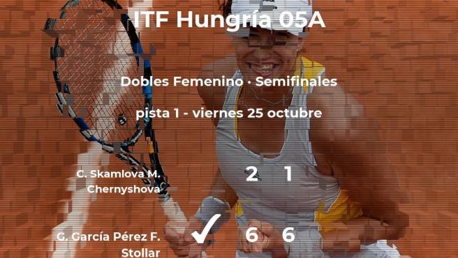 Las tenistas Skamlova y Chernyshova se quedan a las puertas de la final del torneo de Szekesfehervar