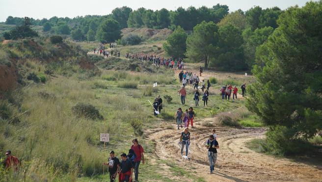 Marcha por el paraje de Les Moles en Paterna (Valencia)