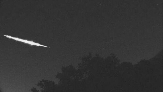 Imagen del meteorito que cruzó en 2017 el cielo de Kyoto.