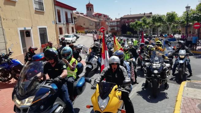 Motoristas en Zaratán (Valladolid)