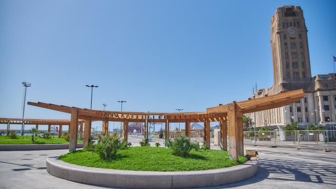 Nuevo espacio de ocio en la Plaza de España, en Santa Cruz de Tenerife