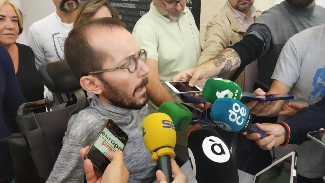 Pablo Echenique atén als mig aquest divendres a Alacant.