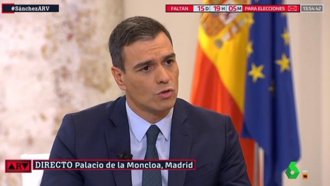 El presidente en funciones, en una entrevista con 'Al Rojo Vivo',