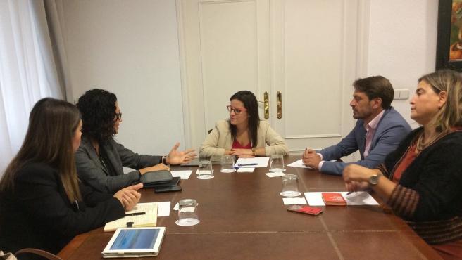 Reunión de la consejera Yaiza Castilla con TUI