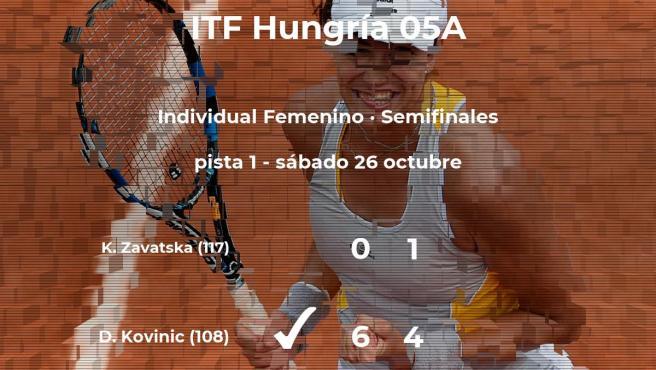 Danka Kovinic gana en las semifinales del torneo de Szekesfehervar