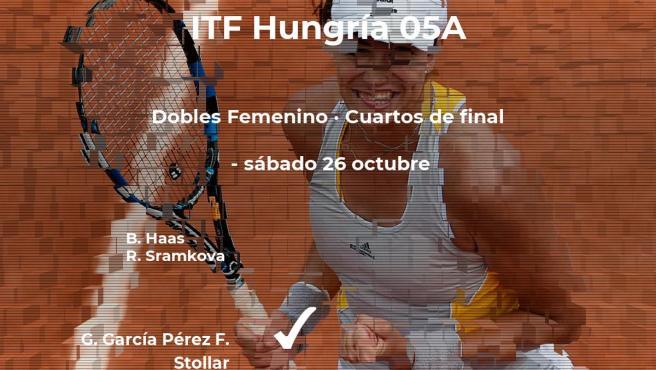 García Pérez y Stollar estarán en las semifinales del torneo ITF Hungary 05A