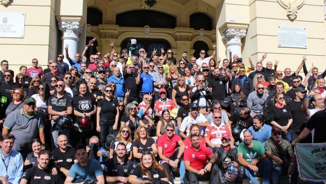 Irene Rivera Cs participa en la marcha motera en Málaga para reclamar más seguridad vial y la retirada de guardarraíles
