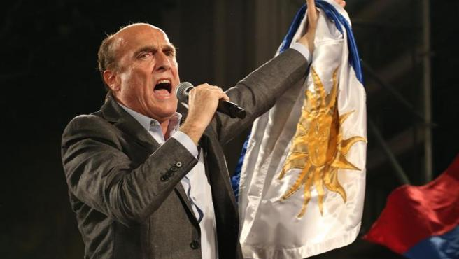 El candidato a la Presidencia de Uruguay Daniel Martínez, del oficialista Frente Amplio, en Montevideo.