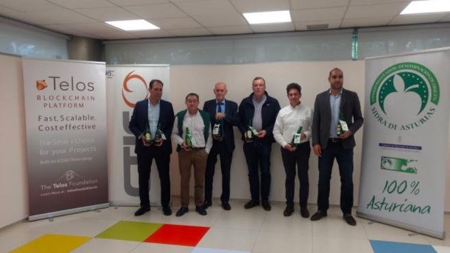 Presentación de la tecnología blockchain integrada en el etiquetado de la DOP Sidra de Asturias.