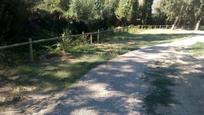 Acondicionamiento en el río Isuela de Huesca