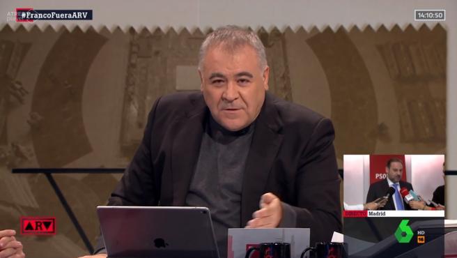 Antonio García Ferreras, crítico con el prior del Valle de los Caídos.