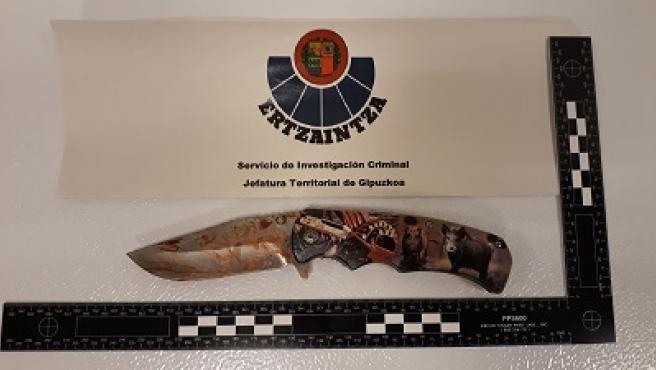 Arma usada en la agresión.