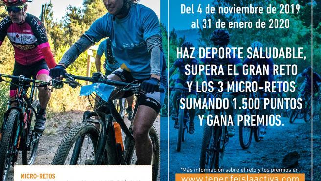 Cartel anunciador de Tenerife Isla Activa