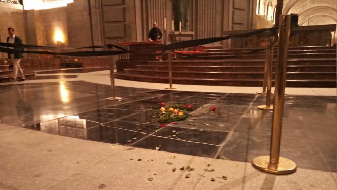 Espacio ocupado antes por la tumba de Franco en la basílica del Valle de los Caídos
