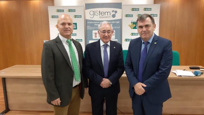 Firma del convenio entre Gistem Research y Caja Rural de Gijón