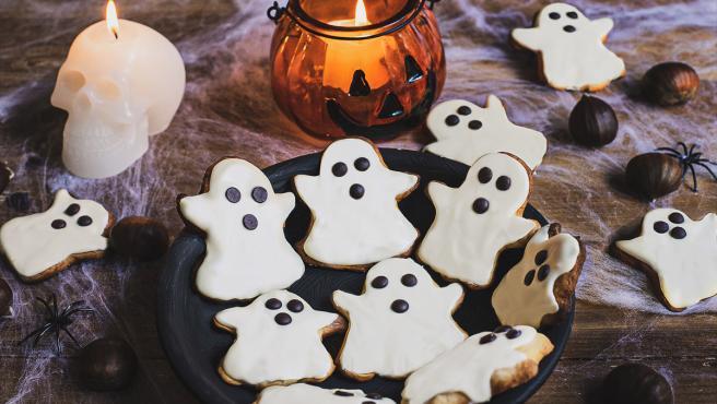 Galletas fantasma de castañas y chocolate
