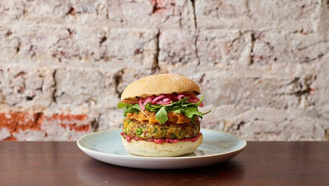 Un hamburguesa vegana
