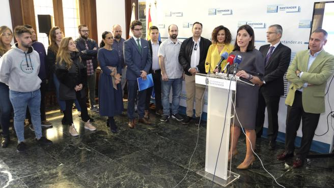 La alcaldesa de Santander, Gema Igual, interviene en la presentación de la segunda edición del programa municipal de Crowdfunding