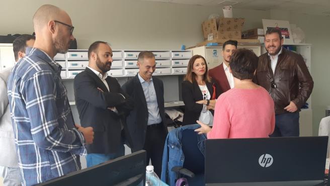 Mario Cortés en una visita a una incubadora de empresas en Benalmádena