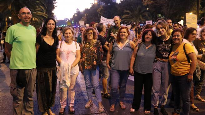 Miembros de Adelante en la manifestación de septiembre