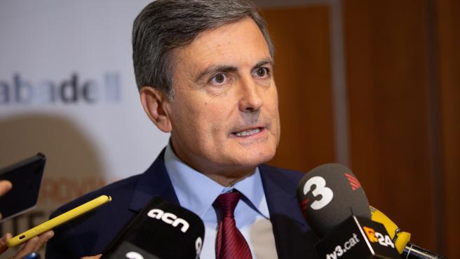 Pedro Saura, Secretario De Estado De Infraestructuras, Transporte Y Vivienda, Atiende A Los Medios Durante La Jornada De Expansión