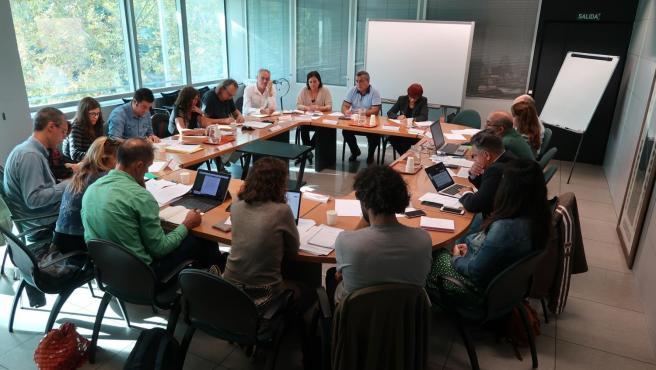Reunión de la mesa sectorial en la Conselleria de Educación del Govern para valorar el funcionamiento de la herramienta de control horario en centros escolares.