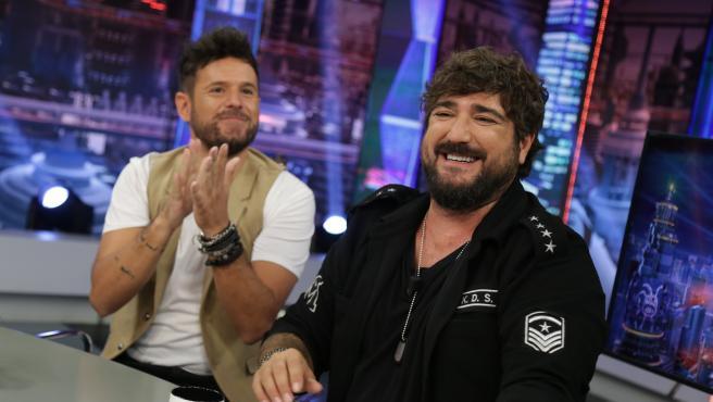 Pablo López y Antonio Orozco, en 'El hormiguero'.