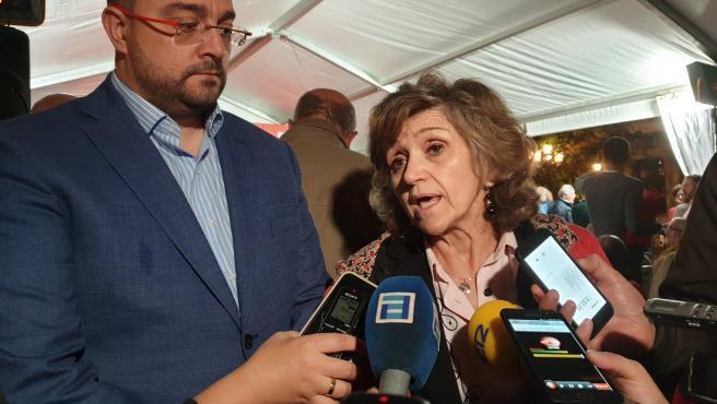 Adrián Barbón y Luisa Carcedo