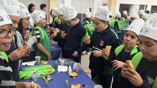 Desayuno saludable en el Colegio Pedro Poveda