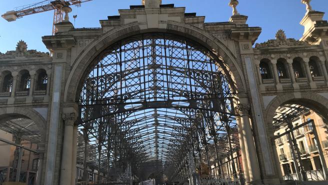 Foto de archivo de la rehabilitación del Mercado Central