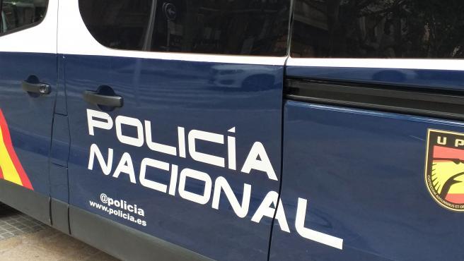 Furgoneta de la Policia Nacional.
