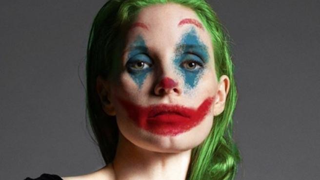 Jessica Chastain cambia de payaso: celebra Halloween con 'Joker'