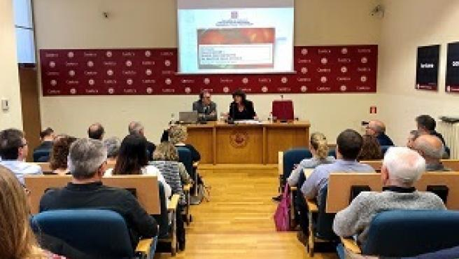 La consellera Teresa Jordà en Tortosa (Tarragona).
