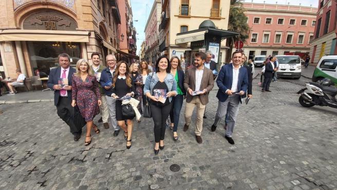 Los populares en Sevilla.