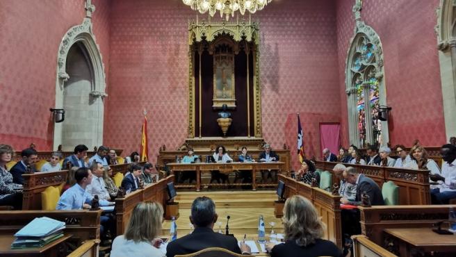 Pleno extraordinario del Consell de Mallorca.