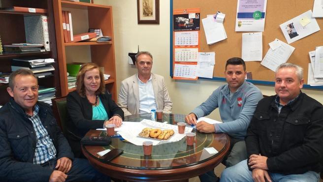 Reunión en el Ayuntamiento de Láchar para pedir la reactivación del cuartel