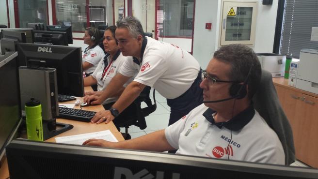 Sala de emergencias del Servicio de Urgencias Canario (SUC)